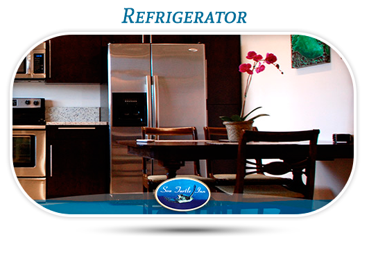 Refrigerator in suites in vero beach